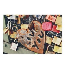 love locks 14x10_print Postcards (Package of 8)