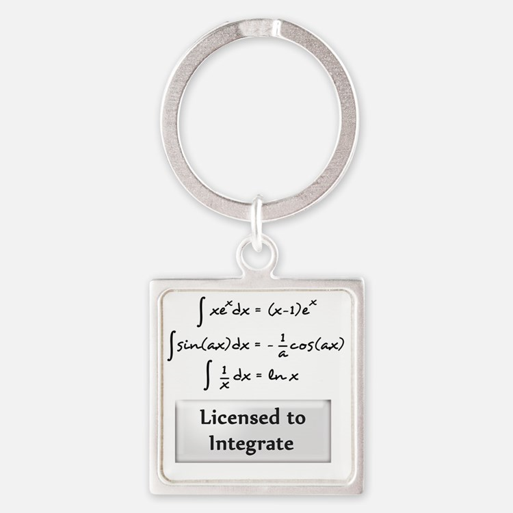 licensed-to-integrate-6-blackLette Square Keychain