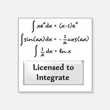 "licensed-to-integrate-6-bla Square Sticker 3"" x 3"""