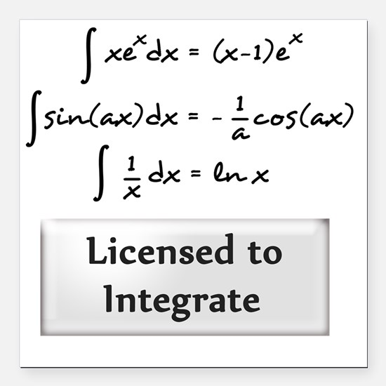 "licensed-to-integrate-6- Square Car Magnet 3"" x 3"""