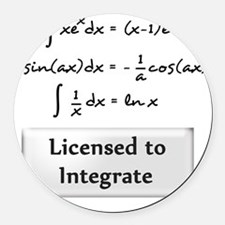licensed-to-integrate-6-blackLett Round Car Magnet
