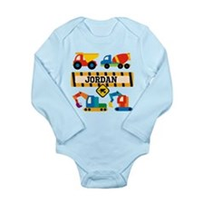 Construction Vehicles Long Sleeve Infant Bodysuit