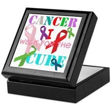 Cancer, I walk for a cure Keepsake Box