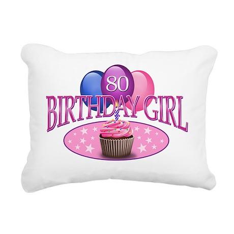 BDayGirl-80 Rectangular Canvas Pillow