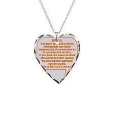 8x8 Hello Necklace Heart Charm