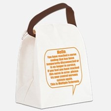 12x12 Hello Canvas Lunch Bag