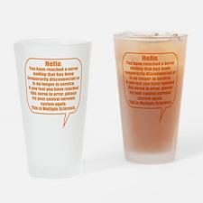 12x12 Hello Drinking Glass