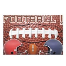 Football with helmets Postcards (Package of 8)