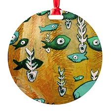 fishnbone1-8x8_apparel Ornament