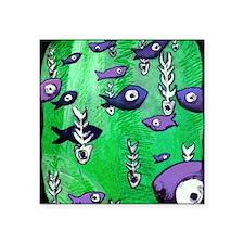 "fishnbone2-8x8_apparel Square Sticker 3"" x 3"""