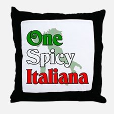 One Spicy Italiana Throw Pillow