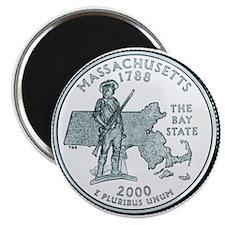Massachusetts State Quarter Magnet