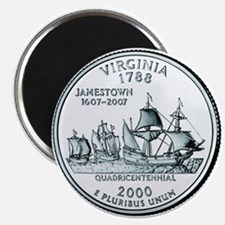 Virginia State Quarter Magnet