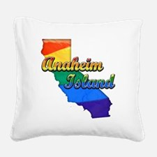 Anaheim Island Square Canvas Pillow