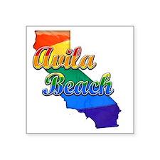"Avila Beach Square Sticker 3"" x 3"""