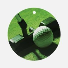 golf2.gif Round Ornament