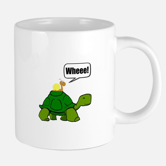 Snail Turtle Ride Mugs