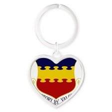 20th FW - Victory By Valor Heart Keychain