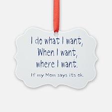 What I want Ornament