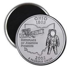 Ohio State Quarter Magnet