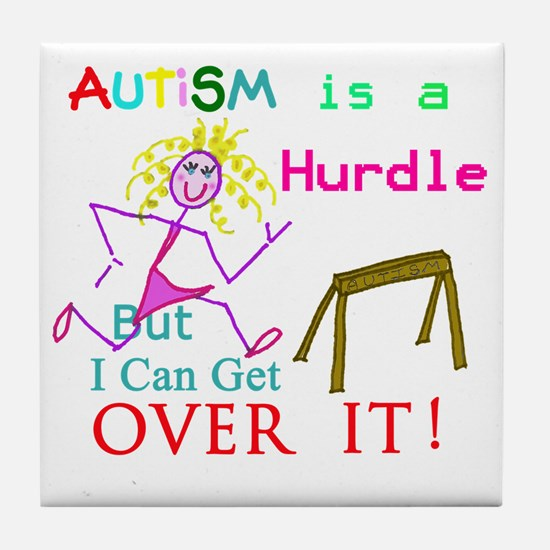 Autism is a Hurdle-Girl Tile Coaster