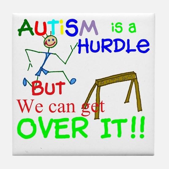 Autism is a Hurdle-Boy2 Tile Coaster