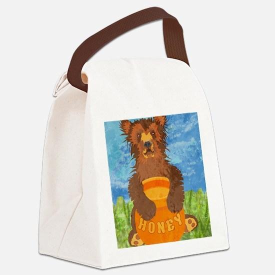 duvetTwinHoneyBear Canvas Lunch Bag