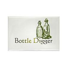 Bottle Digger Rectangle Magnet