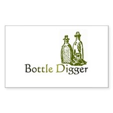 Bottle Digger Rectangle Decal