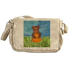 squareHoneyBear Messenger Bag