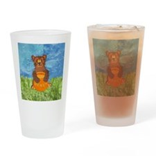 squareHoneyBear Drinking Glass