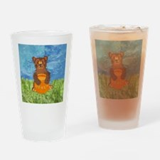 squareHoneyBear Drinking Glass