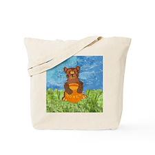 squareHoneyBear Tote Bag