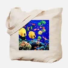Under Sea Coral  Tropical Fish Shower Tote Bag