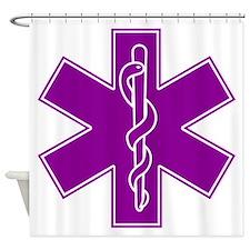 star of life purple Shower Curtain