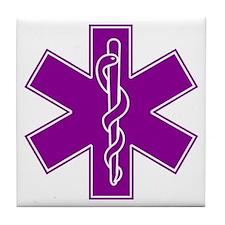 star of life purple Tile Coaster