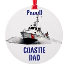 USCG Boat Dad Ornament