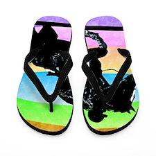 born_to_ride Flip Flops