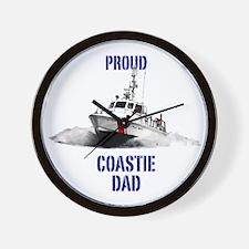 USCG Boat Dad Mug Wall Clock