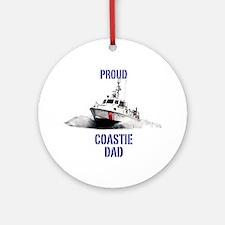 USCG Boat Dad Mug Round Ornament