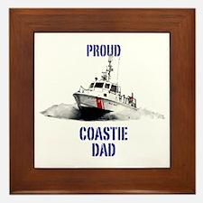 USCG Boat Dad Mug Framed Tile