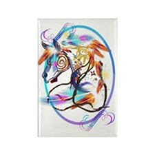 Bright Horse Framed Trans Rectangle Magnet
