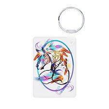 Bright Horse Framed Trans Keychains