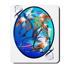 Bright Horse 2 Oval Trans Mousepad