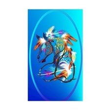 Jewel Oval Bright Horse 2 Decal