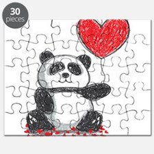 Panda with Heart Balloon Puzzle