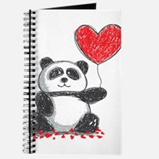 Panda with Heart Balloon Journal