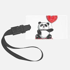 Panda with Heart Balloon Luggage Tag