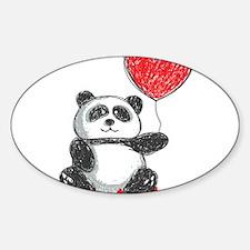 Panda with Heart Balloon Decal