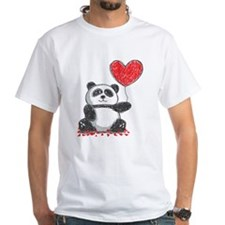 Panda with Heart Balloon T-Shirt